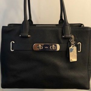 Coach leather black purse